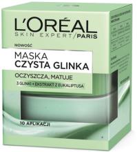 Kup Oczyszczająco-matująca maska do twarzy Czysta glinka - L'Oreal Paris Skin Expert Pure Clay Purity Mask