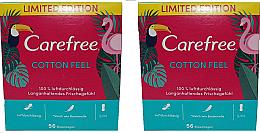 Kup Wkładki higieniczne 2 x 56 szt - Carefree Cotton Feel
