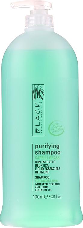 Oczyszczający szampon normalizujący do włosów tłustych - Black Professional Line Sebum-Balancing Shampoo