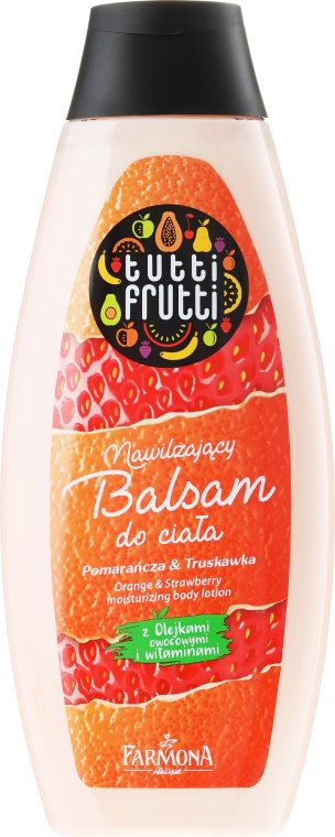 Orzeźwiający balsam do ciała Pomarańcza i truskawka - Farmona Tutti Frutti Orange & Strawberry