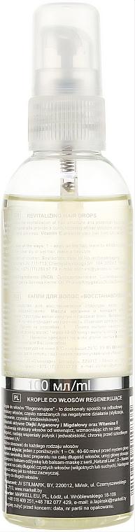 Rewitalizujące krople do włosów - Markell Cosmetics Natural Line — фото N2