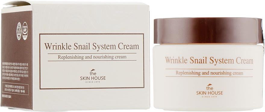 Przeciwzmarszczkowy krem do twarzy ze śluzem ślimaka - The Skin House Wrinkle Snail System Cream