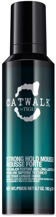 Teksturyzująca pianka do włosów - Tigi Catwalk Strong Hold Mousse — фото N1