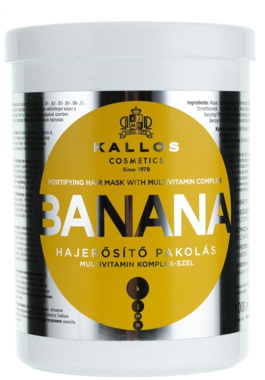 Maska wzmacniająca włosy z ekstraktem z banana i kompleksem witamin - Kallos Cosmetics Banana Mask — фото N2