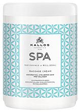 Kup PRZECENA! Krem do masażu ciała z olejem kokosowym, kwasem hialuronowym i kolagenem - Kallos Cosmetics Spa Massagee Cream *