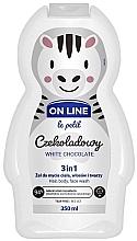 Kup Czekoladowy żel do mycia ciała, włosów i twarzy 3 w 1 - On Line Le Petit White Chocolate 3 In 1 Hair Body Face Wash