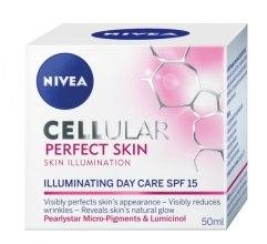 Krem do twarzy na dzień - Nivea Cellular Perfect Skin Illuminating Day Cream SPF 15 — фото N2