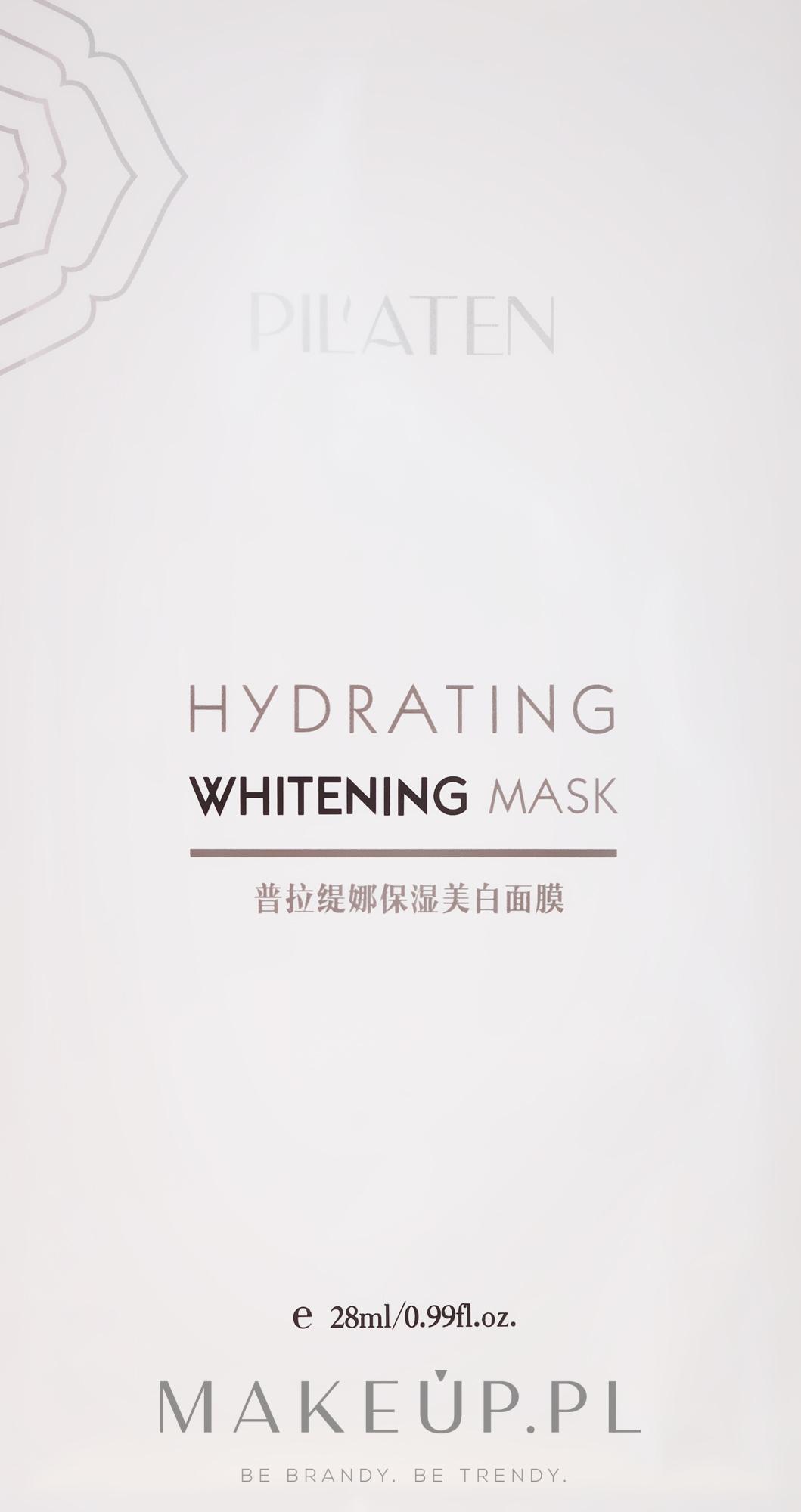 Nawilżająca maska wybielająca do twarzy - Pilaten Hydrating Whitening Mask — фото 28 ml