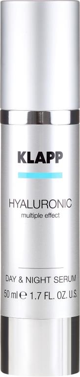Hialuronowe serum na dzień i noc - Klapp Hyaluronic Multiple Effect Day & Night Serum — фото N2