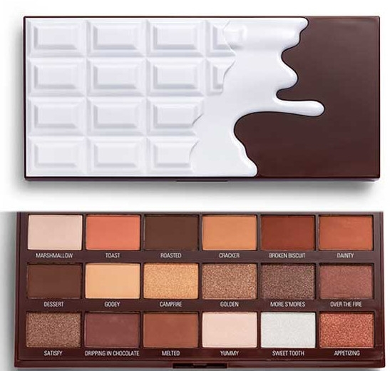 Paleta cieni do powiek - I Heart Revolution Chocolate Eyeshadow Palette Chocolate Smores