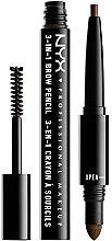 Kup Mulfitunkcyjna kredka do brwi - NYX Professional Makeup Cosmetics 3 in 1 Brow Pencil