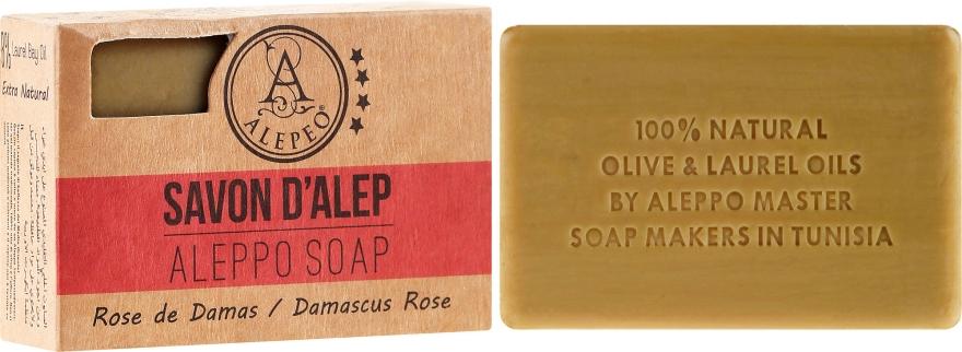 Mydło aleppo w kostce Róża damasceńska - Alepeo Aleppo Soap Damascus Rose 8% — фото N1