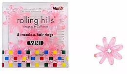 Kup Gumka do włosów, przezroczysty róż, 5 szt. - Rolling Hills 5 Traceless Hair Rings Mini Transparent Pink