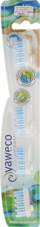 Wymienne miękkie główki do szczoteczki do zębów - Yaweco Toothbrush Heads Nylon Soft — фото N4