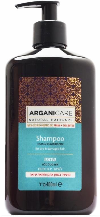 Szampon do suchych i zniszczonych włosów - Arganicare Shea Butter Shampoo For Dry Damaged Hair