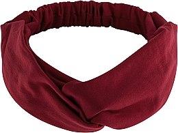 Kup Bordowa opaska na głowę Knit Twist - Makeup