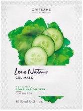 Kup Odświeżająca maseczka żelowa do twarzy - Oriflame Love Nature Cucumber Gel Mask (próbka)