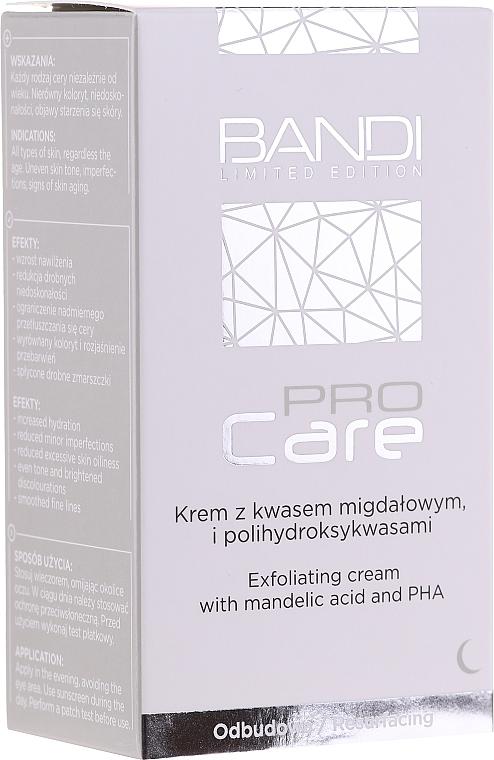 Złuszczający krem z kwasem migdałowym i polihydroksykwasami - Bandi Professional Pro Care