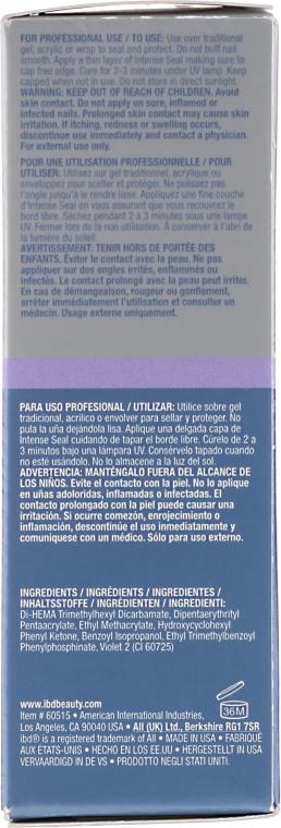 Nawierzchniowy do paznokci - IBD Intense Seal UV No Cleanse Top Coat — фото N3