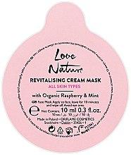 Kup Rewitalizująca kremowa maseczka do twarzy z organiczną maliną i miętą - Oriflame Love Nature Revitalising Cream Mask All Skin Types