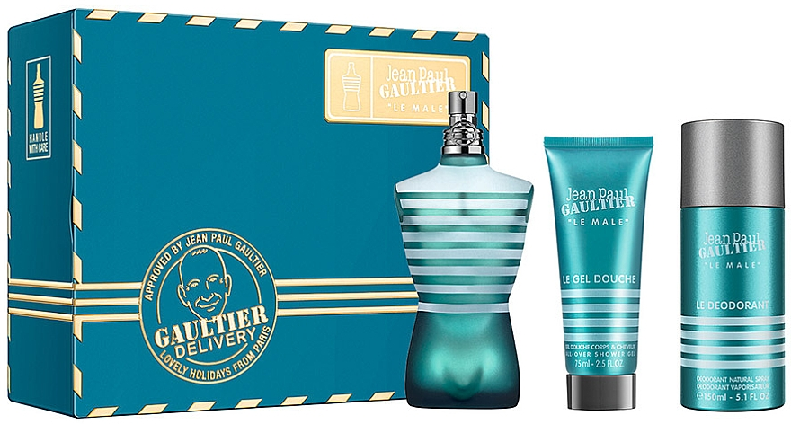 Jean Paul Gaultier Le Male - Zestaw (edt 125 ml + sh/g 75 ml + deo 150 ml)