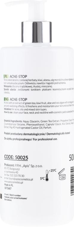 Oczyszczający tonik antybakteryjny z zieloną herbatą - APIS Professional Acne-Stop — фото N2