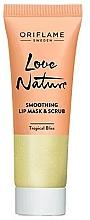Kup Cukrowy peeling do ust i maska 2 w 1 - Oriflame Love Nature Smoothing Lip Mask & Scrub