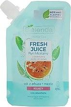 Kup Kojący płyn micelarny do cery odwodnionej Arbuz - Bielenda Fresh Juice Detoxifying Face Micellar Water Watermelon