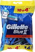 Kup Jednorazowe maszynki do golenia, 14 szt. - Gillette Blue II Plus Chromium