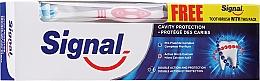 Kup Pasta i szczoteczka do zębów, czerwona - Signal Cavity Protection Toothpaste (toothpaste/100ml + t/brush/1pc)