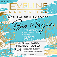 Kup Multinawilżający krem do twarzy - Eveline Cosmetics Natural Beauty Foods Bio Vegan