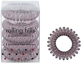 Kup Gumki do włosów, brązowe, 5 szt. - Rolling Hills 5 Traceless Hair Rings Transparent Brown