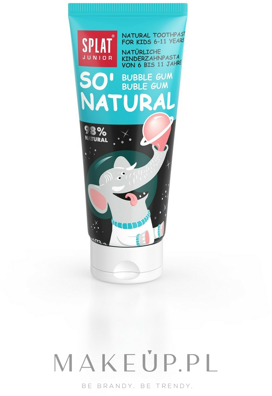 Bioaktywna naturalna pasta do zębów dla dzieci 6-11 lat Guma balonowa - SPLAT Junior Bubble Gum — фото 73 g