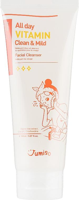 Micelarna pianka do twarzy - HelloSkin Jumiso All Day Vitamin Clean & Mild Facial Cleanser — фото N1