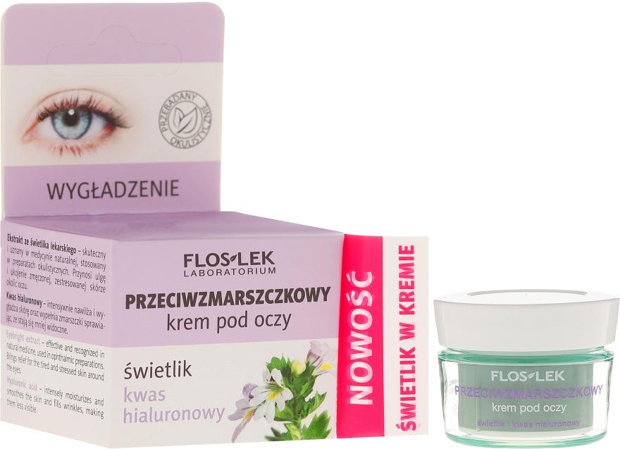 Przeciwzmarszczkowy krem pod oczy Świetlik i kwas hialuronowy - Floslek