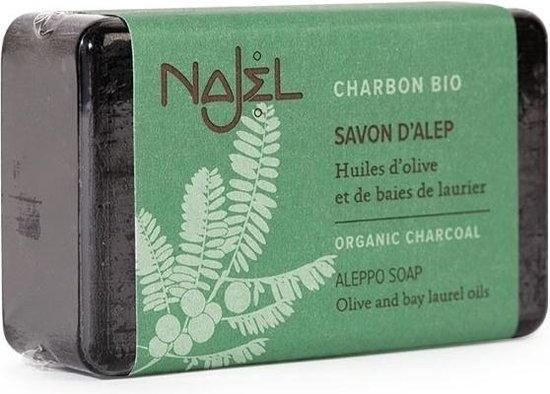 Mydło organiczne Aleppo z aktywnym węglem, oliwą z oliwek i olejem laurowym - Najel Aleppo Soap Olive and Bay Laurel Oils — фото N1