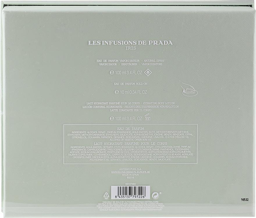 Prada Les Infusions De Iris - Zestaw (edp 100 ml + b/lot 100 ml + edp 10 ml) — фото N2