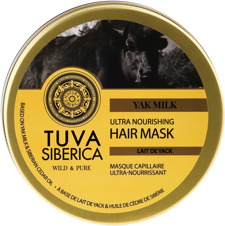 Odżywcza maska do włosów - Natura Siberica Tuva Siberica Yak Milk Ultra Nourishing Hair Mask — фото N1