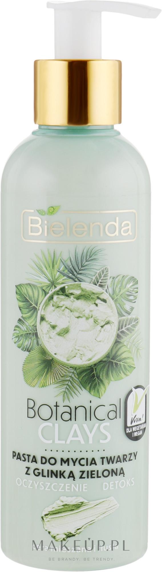 Pasta do mycia twarzy z glinką zieloną do cery mieszanej i tłustej Oczyszczenie i detoks - Bielenda Botanical Clays Vegan Face Wash Paste Green Clay — фото 190 g
