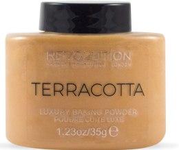 Kup Luksusowy puder do twarzy - Makeup Revolution Terracotta Luxury Baking Powder