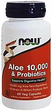 Aloes i probiotyki w kapsułkach - Now Foods Aloe & Probiotics — фото N1