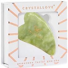 Płytka do masażu twarzy Gua Sha z jadeitu - Crystallove Jade Gua Sha — фото N2