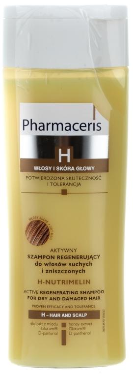 Aktywny szampon restrukturyzujący do włosów suchych i zniszczonych - Pharmaceris H-Nutrimelin Active Regenerating Shampoo