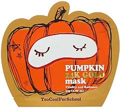 Kup Złota maseczka do twarzy z dynią - Too Cool For School Pumpkin 24k Gold Mask