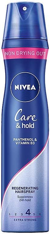 Lakier regenerujący do włosów Care & Hold - Nivea Styling Spray