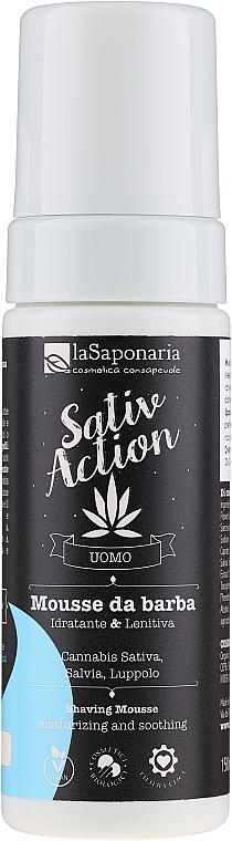 Pianka do golenia - La Saponaria Sativ Action Shaving Mousse — фото N1