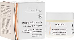 Kup Regenerujący krem na noc do skóry normalnej i suchej - Apeiron Night Regeneration Cream