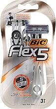 Kup Jednorazowa maszynka do golenia dla mężczyzn - Bic Flex 5 Dispo