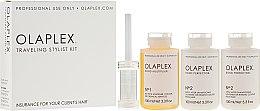 Kup Podróżny zestaw do ochrony włosów podczas farbowania - Olaplex Traveling Stylist Kit (con 100 ml + 2 x elixir 100 ml)