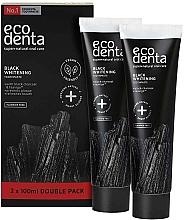 Kup Czarna wybielająca pasta do zębów bez fluoru - Ecodenta Black Whitening Toothpaste Set